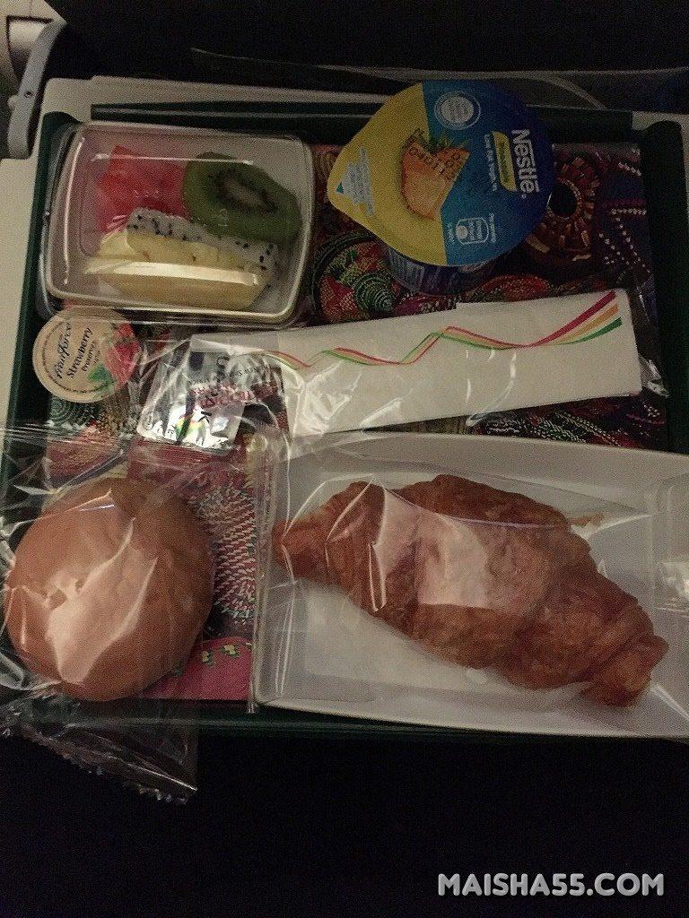 エチオピア航空朝食