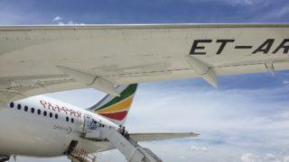 エチオピア航空機体後方