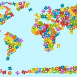 世界地図アルファベット