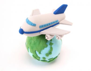 飛行機と地球